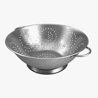 3D colander stainless steel model