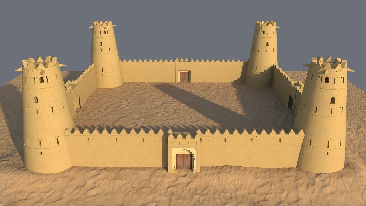arab fort 3D