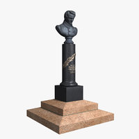 3D model lobachevsky monument russian mathematician