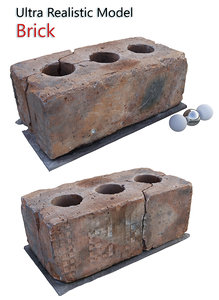3D brick scanned