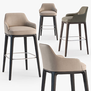 poliform sophie stool 3D