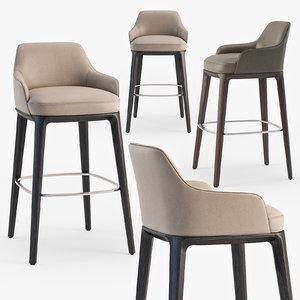 poliform sophie stool 3D