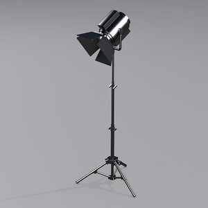 3D photostudio spotlight