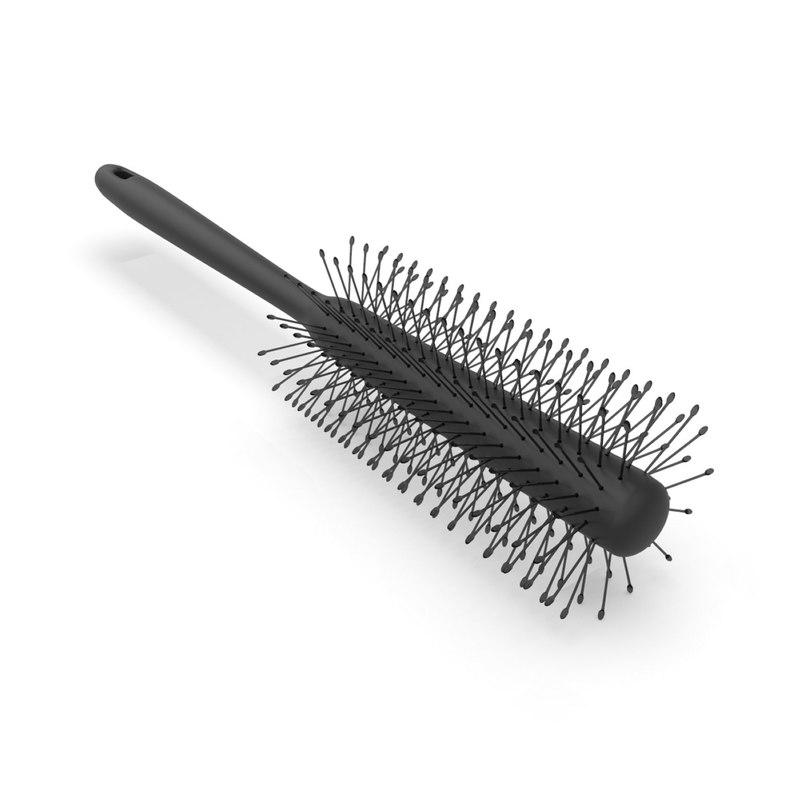 roll brush comb 3D model