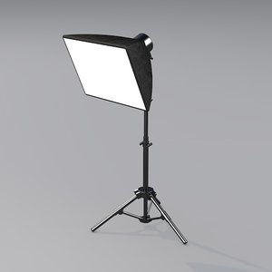 3D photostudio softbox model