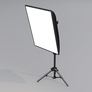 3D model photostudio softbox