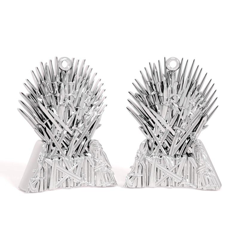 pendant iron throne 3D
