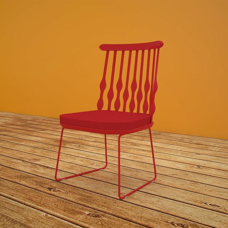 patricia chair design 3D model