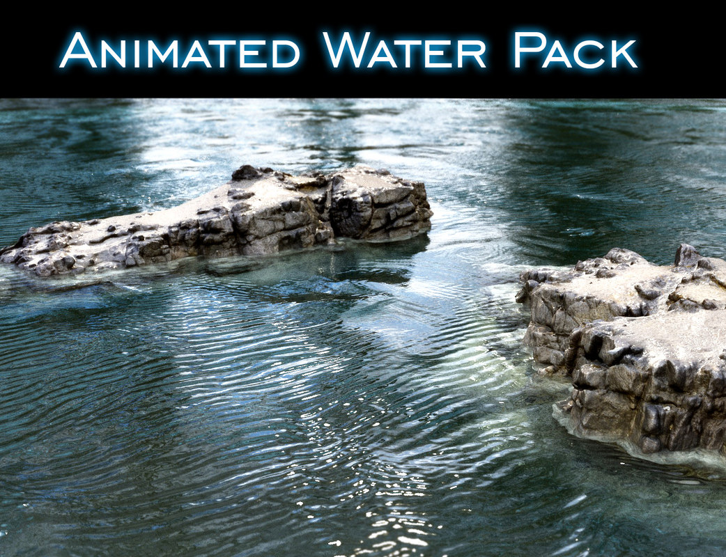 3D model water pack