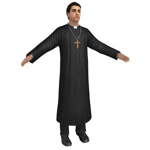 3D catholic priest