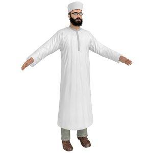 3D model muslim priest