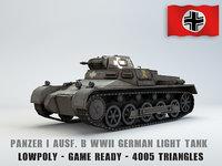 panzer b tank ausf 3D model
