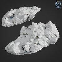 scanned rock cliff f 3D model