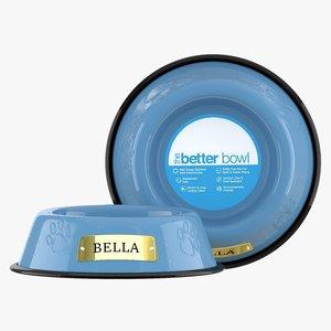large bowl sky blue 3D model