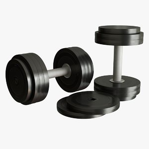 realistic dumbbell 3D model