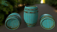 wood barrel 3D