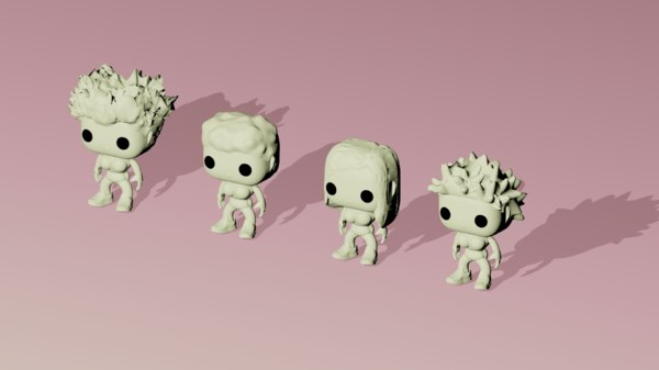 funko pop customizable set 3D model