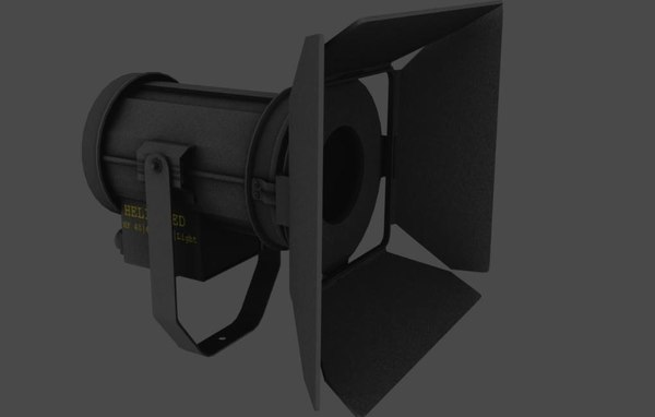 fresnel theatre light prop 3D model
