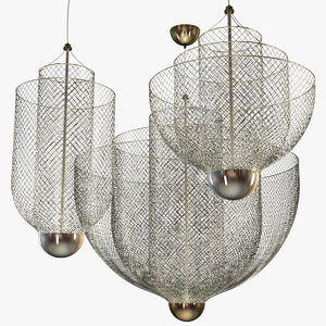 3D moooi meshmatics chandeliers