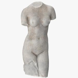 3D model torso venus