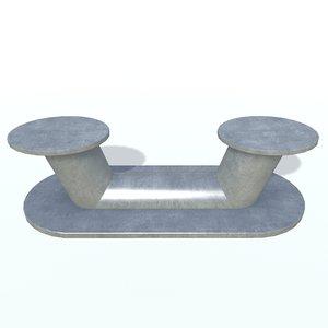 3D ship bollard c