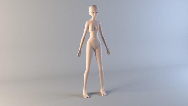 3D woman body