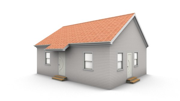 3D bungalow house model