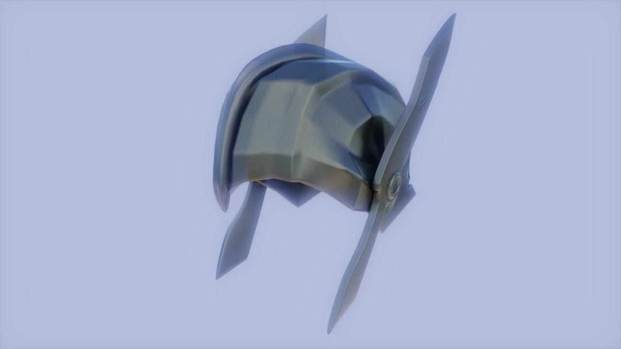 3D model helmet warrior