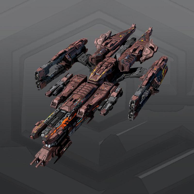 starship spacecraft 3D