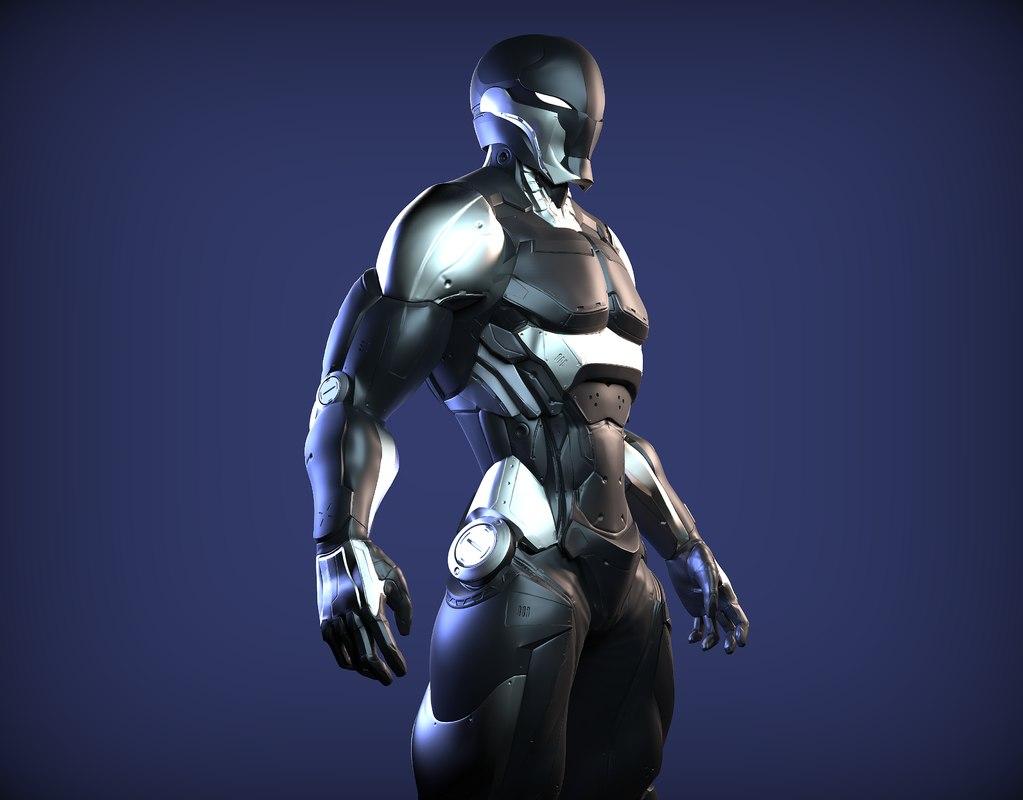 cyber ninja 3D model