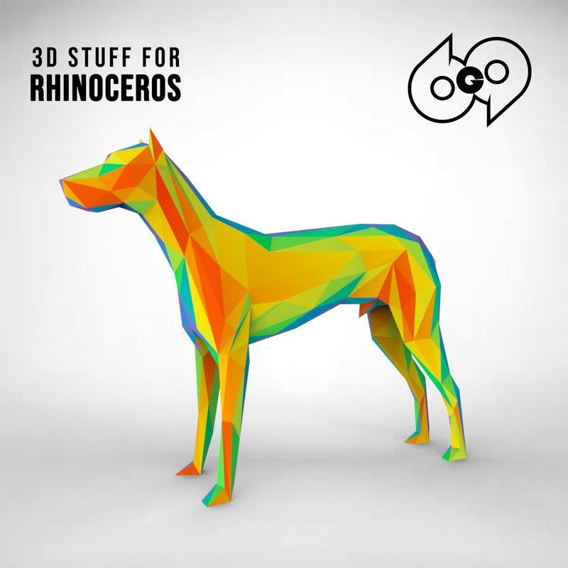 rhinoceros wireframe model