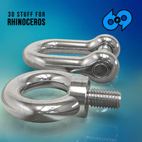 3D shackle eyebolt