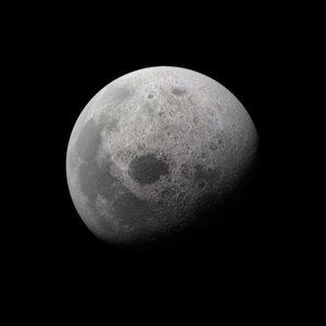 3D moon lunar resolution model