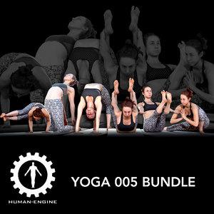 yoga poses photogrammetry 3D model