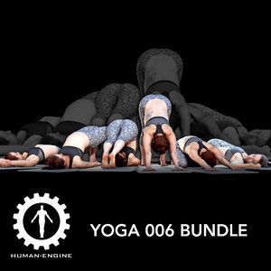 3D yoga character model