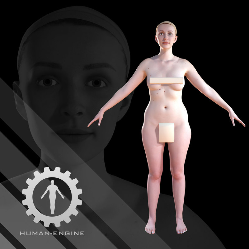 - human scanning character 3D