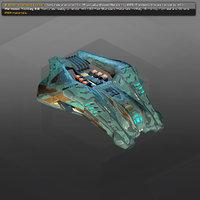 3D model starship spacecraft