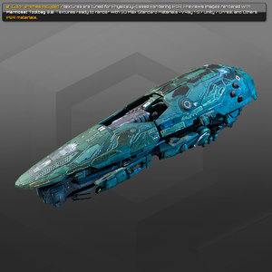 starship spacecraft 3D