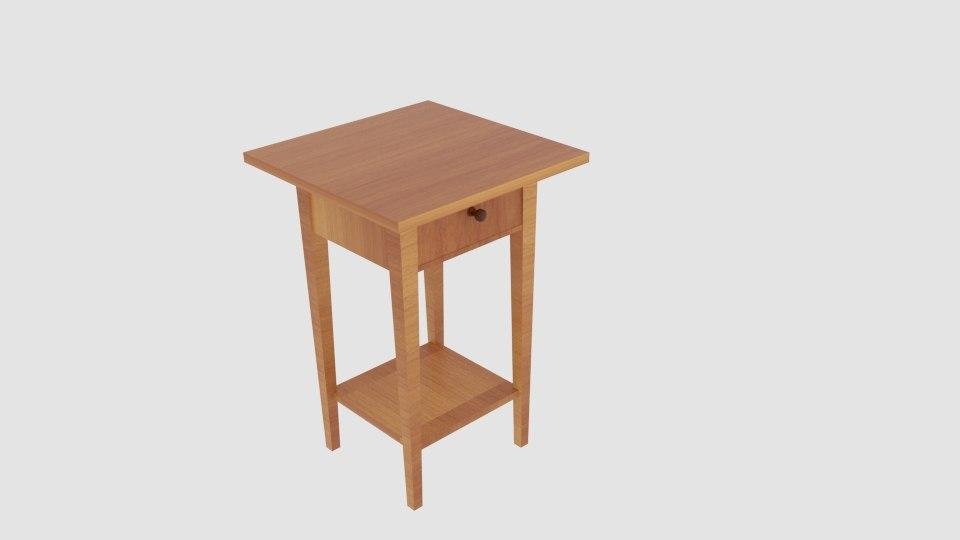 griffith end table shelf 3D model