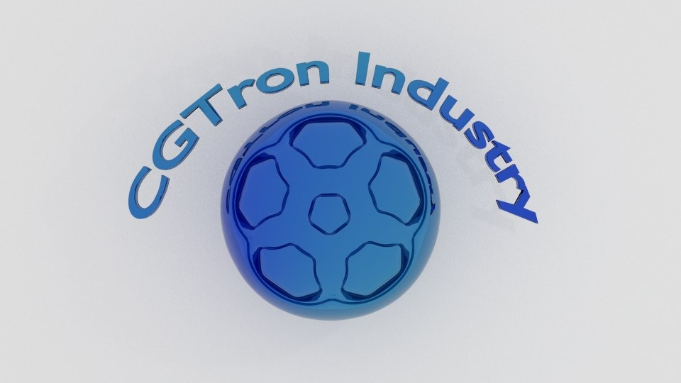 cg tron logo 3D model
