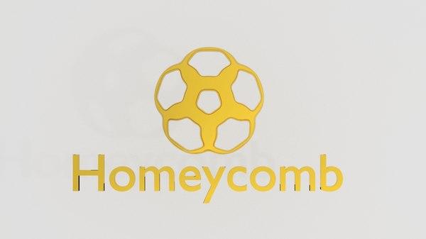 3D homeycomb logo