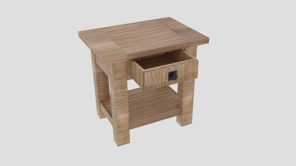 3D model benchwright square table seadrift