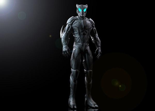 3D concept cyber mutant