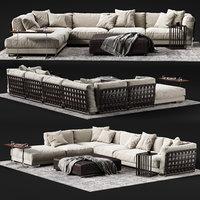 3D flexform cestone corner sofa