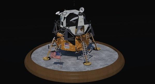 3D apollo lunar landing module