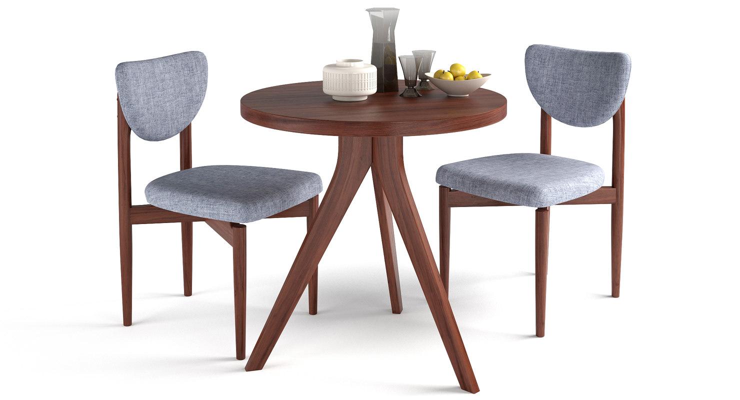 table chair tripod dane 3D model