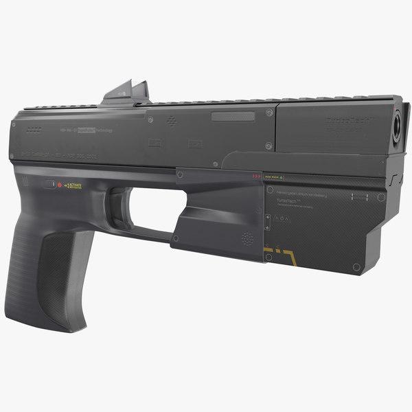 hand cannon handgun weapon 3D