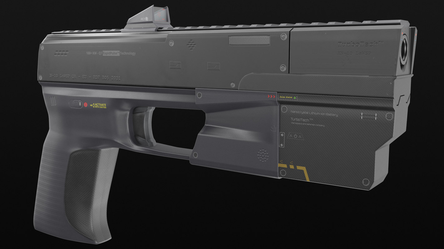 hand cannon handgun weapon 3D