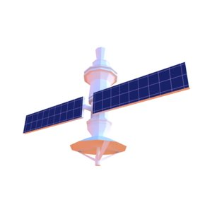 satellite sat 3D model