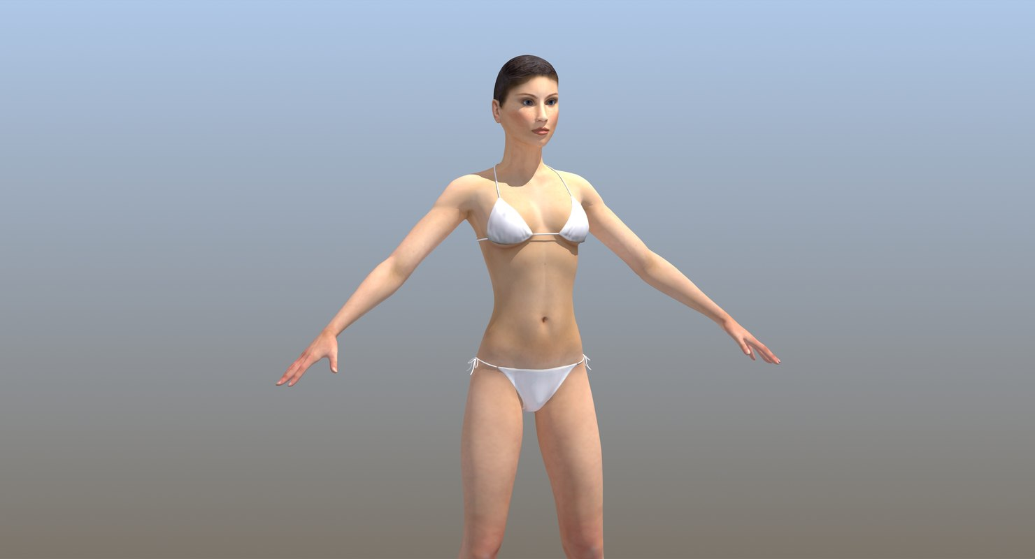 3D woman lady character